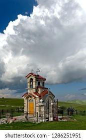 Orthodox church in the Durmitor mountain region, Montenegro