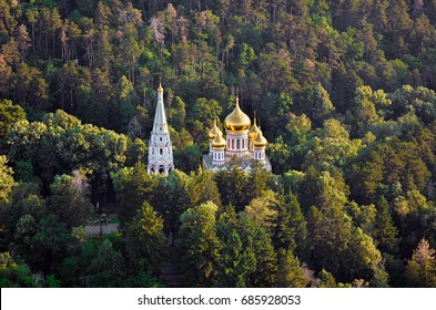 Orthodox church of the Nativity of Christ. Aerial view. Kazanlak, Bulgaria