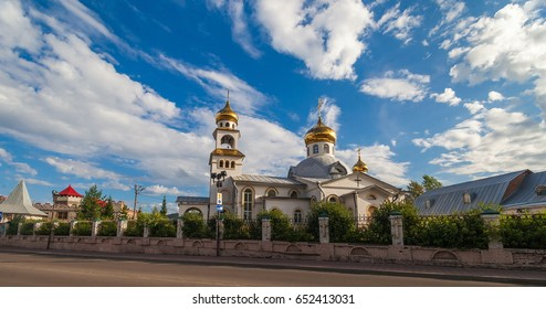 The Orthodox Church on sky background