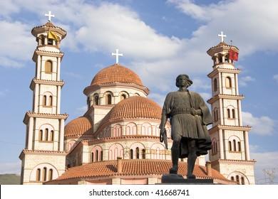 The orthodox church of Saint George in Korca, Albania