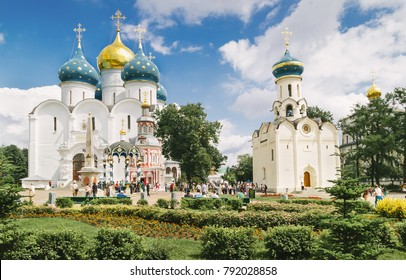 Orthodox church in Sergiyev posad monastery Russia