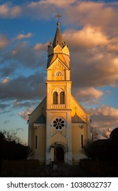 The orthodox church in Timisoara city, in the sunset light