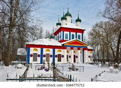 Orthodox Church of the Transfiguration of the Savior/ Winter landscape/ Dunilovo village/ Shuya district/ Ivanovo region/ Russia/ Golden Ring of Russia Travel