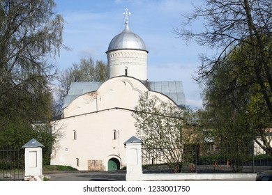 The orthodox Church of Vlasiya is located in Veliky Novgorod, in the northern part of Lyudin, 250 meters from the Novgorod Detinets. (Veliky Novgorod, Russia. May 7, 2012