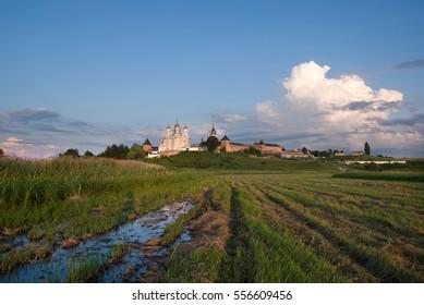 Orthodox convent in the village Zimno Volyn region. Ukraine. year 2009. - Shutterstock ID 556609456
