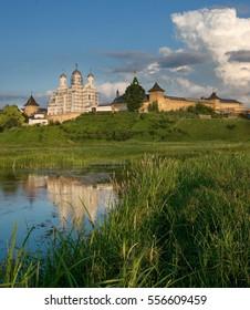 Orthodox convent in the village Zimno Volyn region. Ukraine. year 2009. - Shutterstock ID 556609459