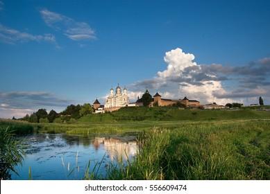 Orthodox convent in the village Zimno Volyn region. Ukraine. year 2009. - Shutterstock ID 556609474