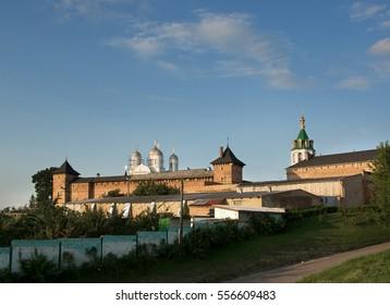 Orthodox convent in the village Zimno Volyn region. Ukraine. year 2009. - Shutterstock ID 556609483