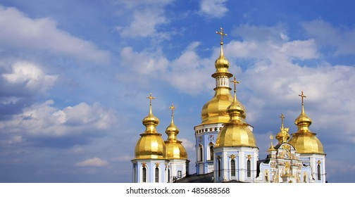 Orthodox cupolas panorama