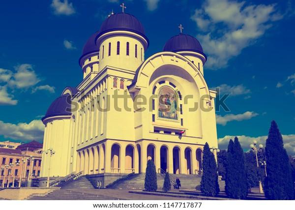 Orthodox Holy Trinity Cathedral in Arad, Romania