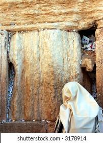 orthodox Jew prays at the western wall #2