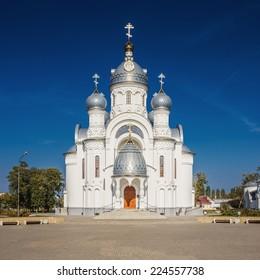 Orthodox Memorial Church of Archangel Michael. Bereza city, Belarus