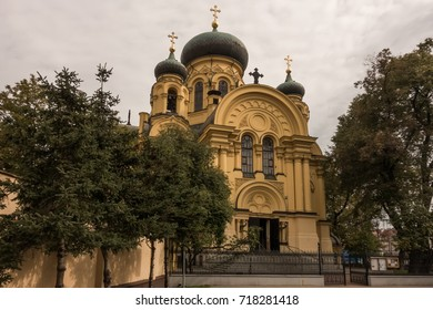 The orthodox Metropolitan Cathedral of St. Mary Magdalene in Polands capital Warsaw