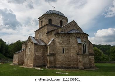Orthodox monastery Gradac in Serbia. Gradac Monastery is located in Golija tourist region, and near the tourist center Kopaonik.