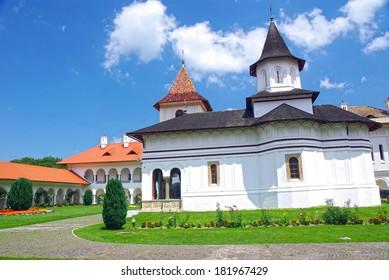 The orthodox monastery of Sambata in Romania.