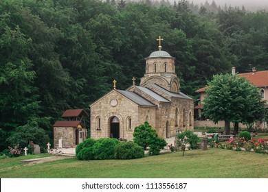 Orthodox monastery Tresije on Kosmaj mountain in Serbia, Europe
