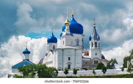 Orthodox monastery in the village of Bogolyubovo,Vladimir oblast. Russia. Cathedral of Bogolyubsk icon of Mother of God
