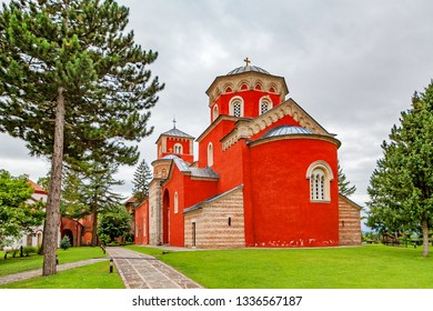Orthodox monastery of Zhicha. Serbia.