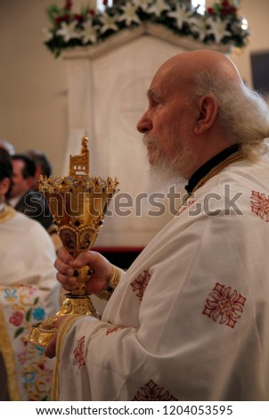 Orthodox Priest During Mass Monastery Saint Stock Photo (Edit Now