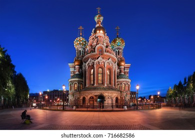 Orthodox Temple Savior on spilled blood or Cathedral of the Resurrection of Christ in St Petersburg, Russia.