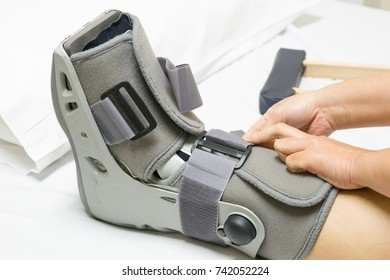Orthopaedic Boot to a Patient