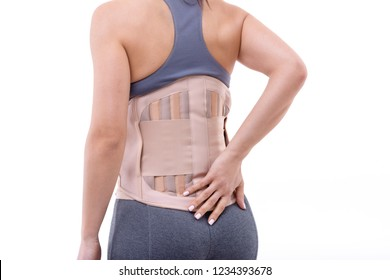 orthopedic corset on the human body