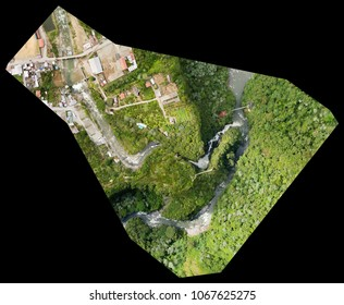 Orthorectified Drone Aerial Map Used In Photogrammetry