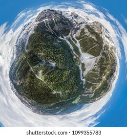 Ortler Alps Stelvio Pass HDR Little Planet