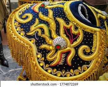 Oruro, Bolivia - February 20, 2009: Dresses used at Oruro Carnival in Bolivia.