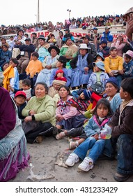 Oruro, Bolivia, February, 2008 : Bolivian People is watching the parade during the Carnival.