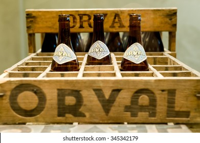 Orval, Belgium - May 8, 2015: Orval Trappist Beer