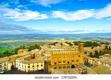 Orvieto medieval town panoramic aerial view. Umbria, Italy, Europe.