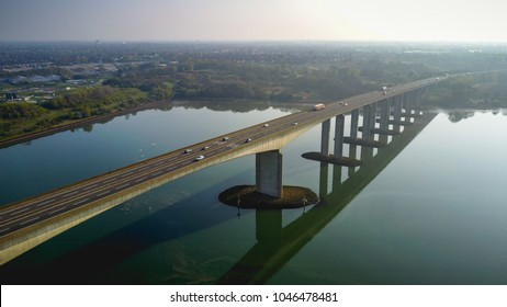 Orwell Bridge - Ipswich - Drone photo