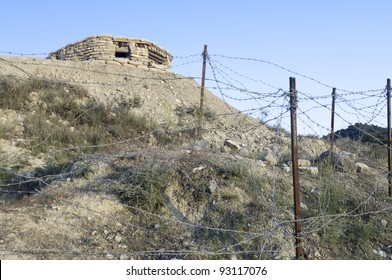 Orwell  trench used in the Spanish civil war, Saragossa, Aragon, Spain