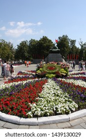 ORYOL (OREL), ORYOL REGION, RUSSIA - MAY 8TH, 2015: World War II Victory Day celebrations in Tanker's Square