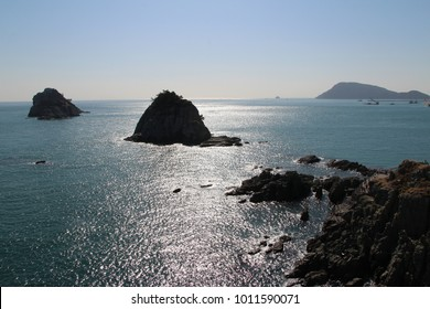 Oryukdo Island means five-six island and the islands in Busan, South Korea