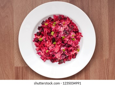 Orzo with beetroot
