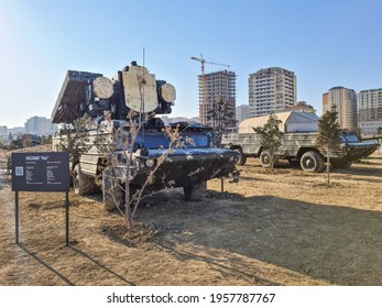Osa on BAZ-5937m, low-altitude, short-range tactical surface-to-air missile system - Baku, Azerbaijan, 04-16-2021