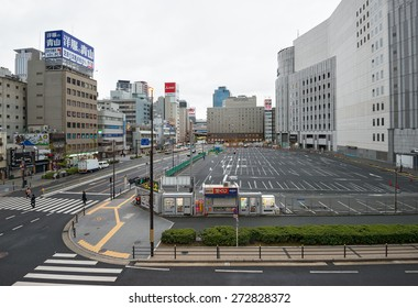OSAKA - APRIL 7: view of Osaka central business district on April 7, 2015 in Osaka, Japan. Osaka is the second largest metropolitan area in Japan and serves as a major economic hub.