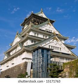 Osaka castle during the daytime