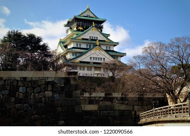 Osaka Castle historical in Japan