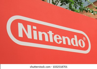 OSAKA JAPAN - 13 NOVEMBER, 2017: Nintendo Japanese computer game manufacturer Japan. Nintendo is one of the world largest video game companies by market capitalization.