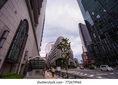 Osaka. Japan, 2015. Editorial photo of Osaka Streets.