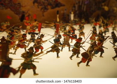 Osaka, Japan - 24/05/18 : Exhibition of figure are showing us how the wars of old times in Osaka , Japan.
