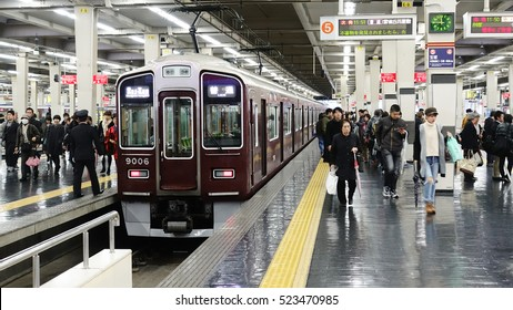 Osaka, Japan -  27 November 2016 - Hankyu Umeda Station in Osaka of Japan