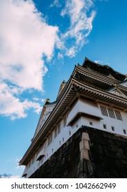 Osaka / Japan — 28.12.2017: Osaka city