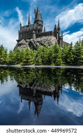 Osaka, Japan - 4 July 2016 : Hogwarts the Wizard World of Harry Potter, Universal Studio, Osaka, Japan.