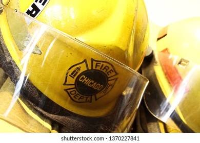 "Osaka, Japan - Apr 13, 2019: The fireman's clothes by the Engine 17 of the Chicago Fire Department movie set at Universal Studios Japan.Filming for ""Backdraft 2"" confirmed to begin."