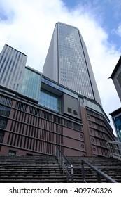 OSAKA, JAPAN -  April 15, 2015 : the building of Hankyu