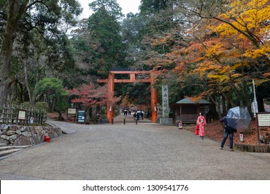 OSAKA, JAPAN - DEC 7 2018: Todai-ji literally means Eastern Great Temple. This temple is a Buddhist temple located in the city of Nara, Japan.